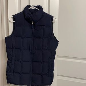 Navy blue jacket vest by Lands' End